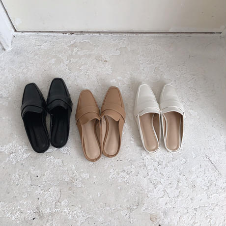 basic mule loafer(即納)