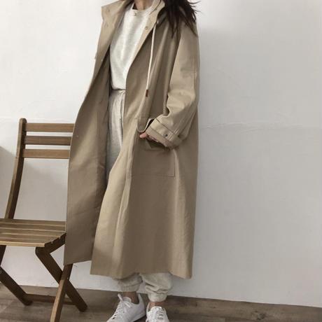 hood trench coat