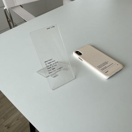 clear phone stand(即納)