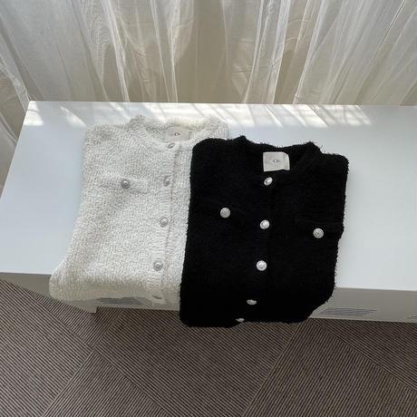 Cfs rosy tweed knit cardigan(即納)