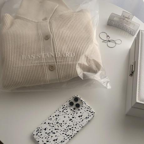 bas standardcotton collar cardigan(即納)