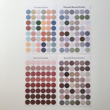 color round sticker(4color)即納