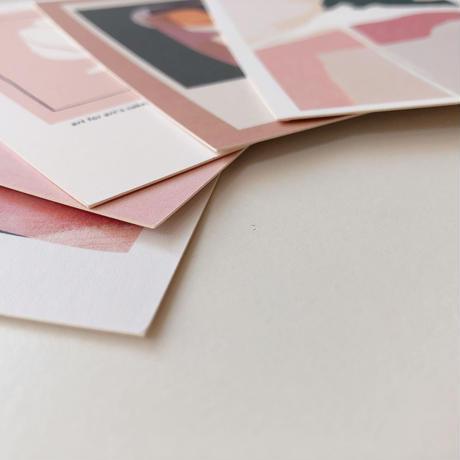 post card set(pink)