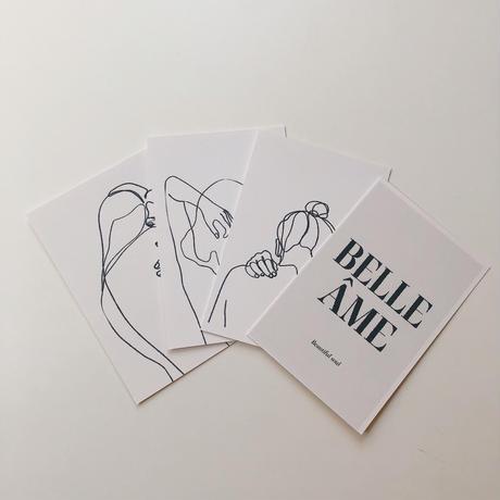 post card set(girl lettering)即納