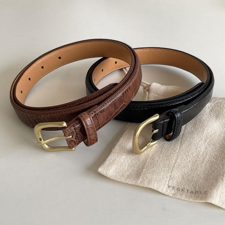 VEGETABLE classic leather belt(即納)