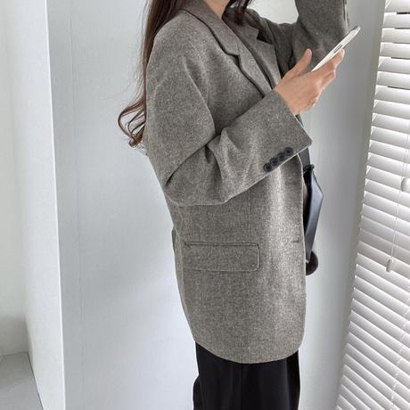 VEGETABLE wool alpaca JK(グレー 即納)