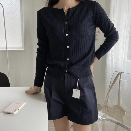 de onde open linen cardigan (即納)
