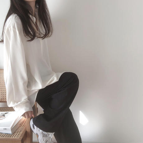 satin blouse(即納)