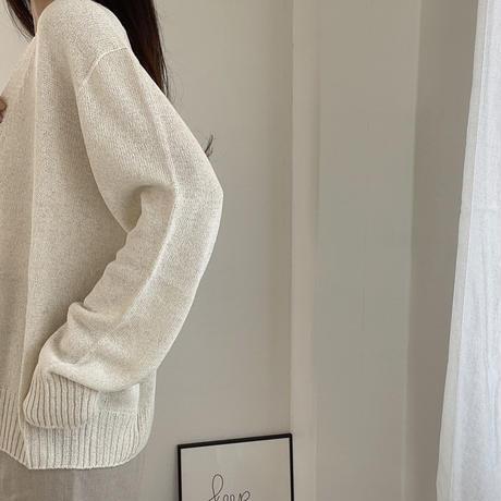 bas standard linen organic cardigan(即納)