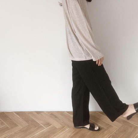 bold belt flat sandal (クリーム24.0/即納)