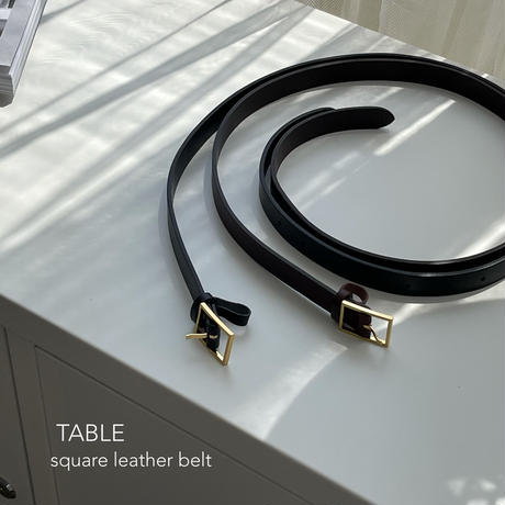 TABLE square leather belt(即納)