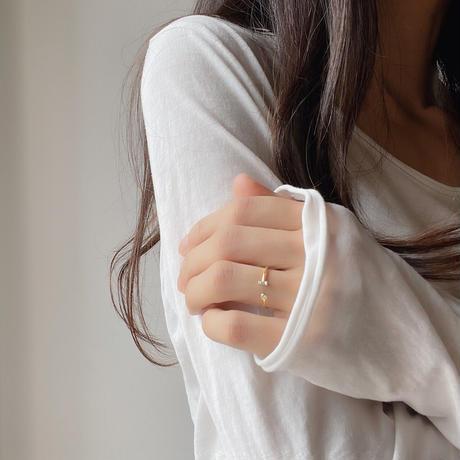 zirconia gold ring(silver925)