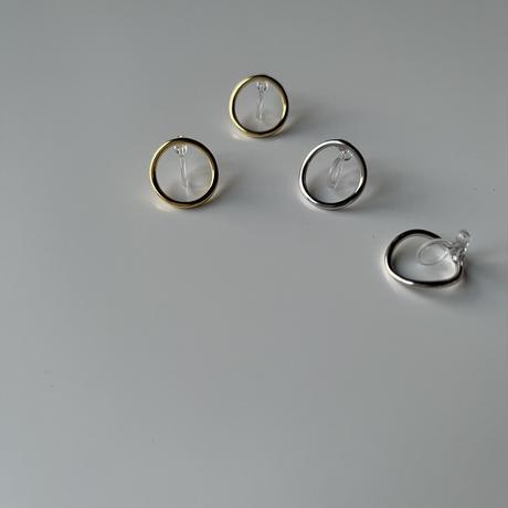 deformed circle earrings(silver925)