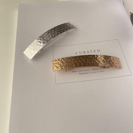 metal oblong barrette
