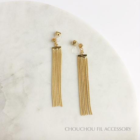 crystal&back chain earring