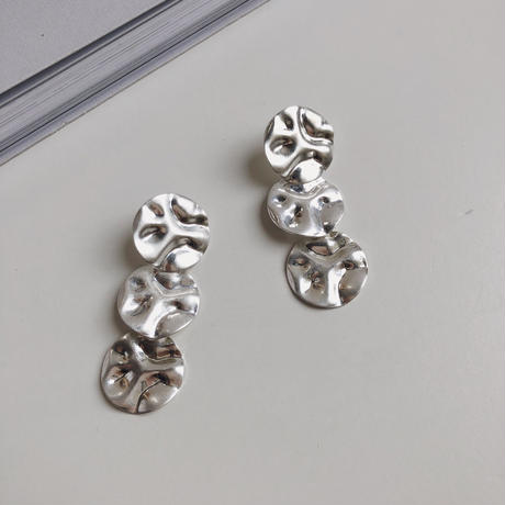 three metal earring