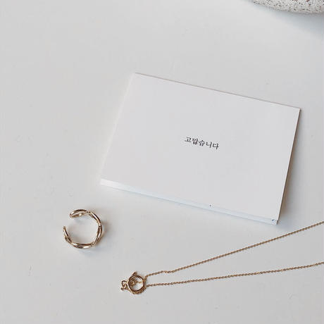 simple gold necklace(14kgf)
