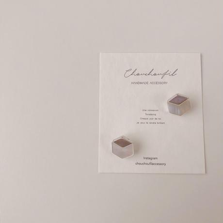 hexagon shell earring