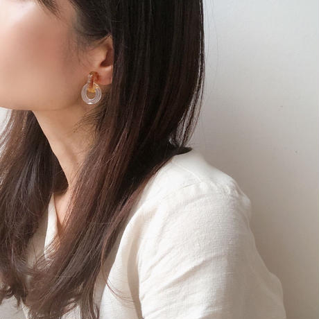 clear ring earring
