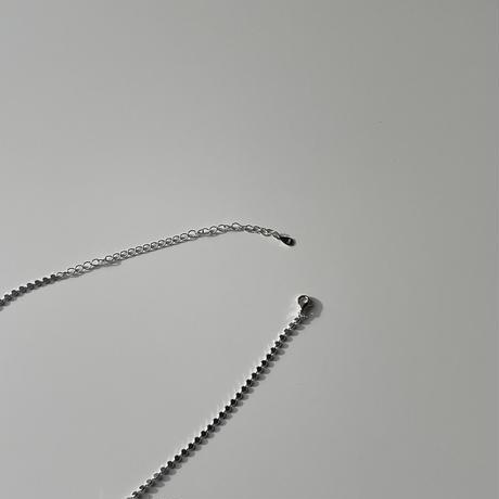 in net single choker(silver925)