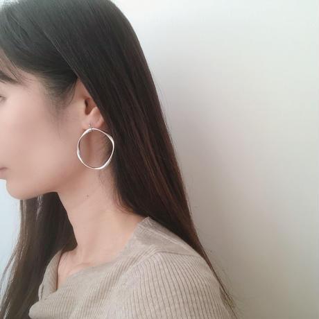 twist square big  hoop earring