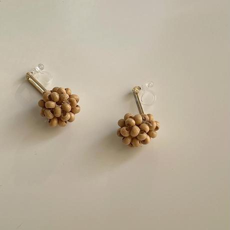 wood beads swing earrings