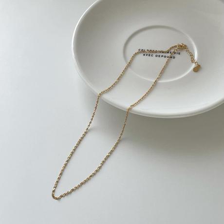 twist chain necklace(silver925)