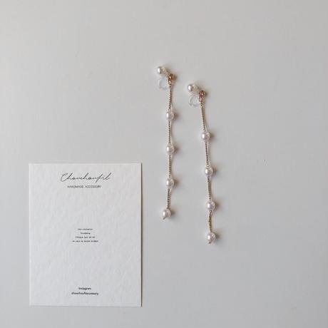 range pearl back swing earring