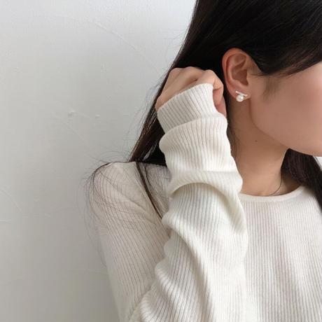 fresh pearl+bar earrings