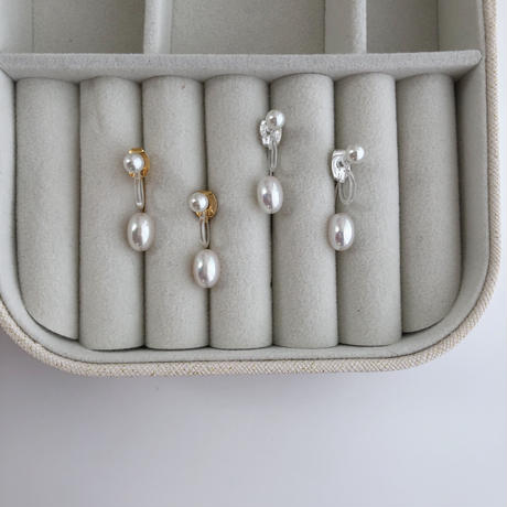 pearl whit earrings