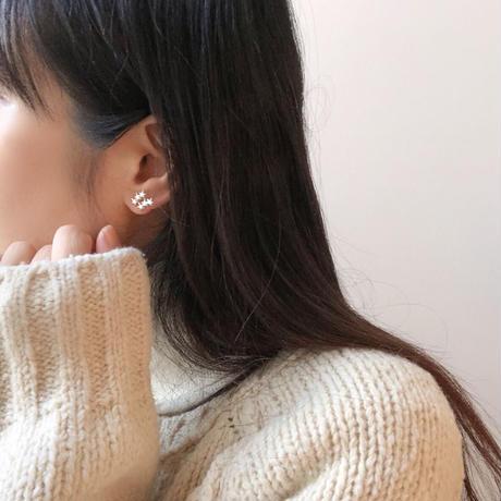 earring 3set (star&chain)