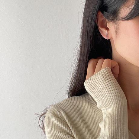 simple bar earrings(silver925)