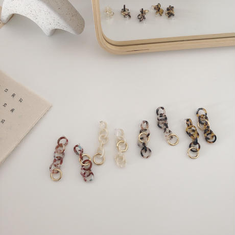 color chain earring