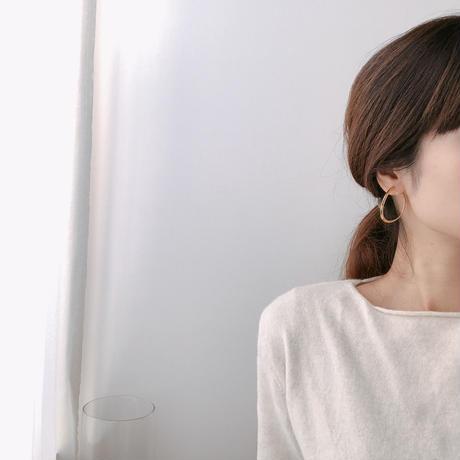 distort hoop earring