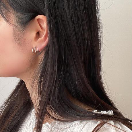range hoop earrings(silver925)