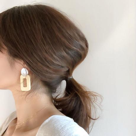 metal&wood hoop earring(ナチュラルのみ)