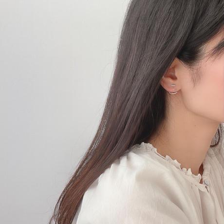 short bar&curve earrings(silver925)