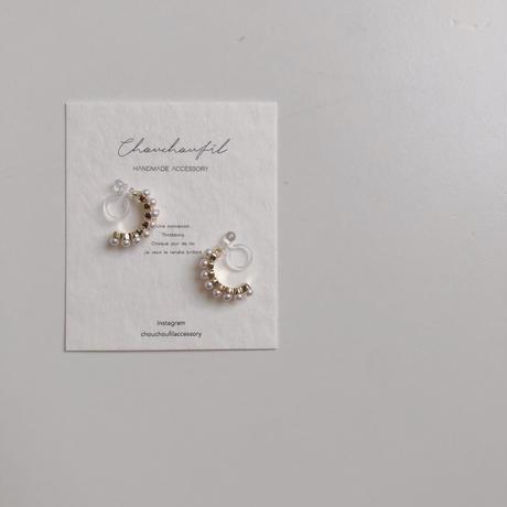 pearl&zirconia earring