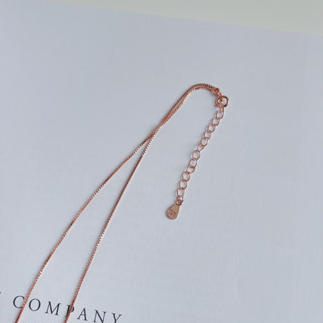 stone stick chain necklace(pink gold/silver925)