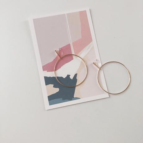 stick&big hoop earring