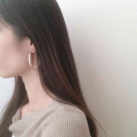 fixed hoop earring