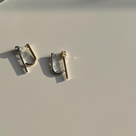 two tone stick earrings
