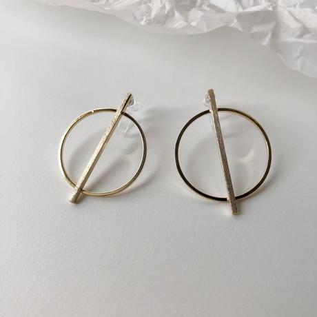 circle&stick earrings