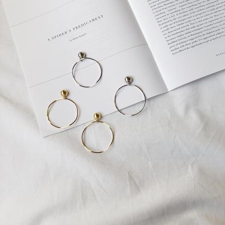 metal&wave big hoop earring