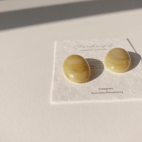 marble khaki earring
