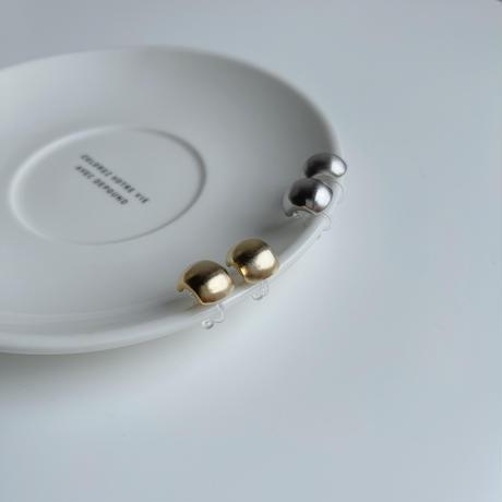 matte beans earrings(silver925)