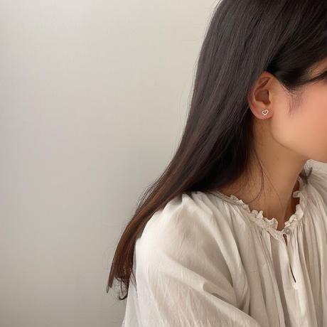 silver heart earrings(silver925)