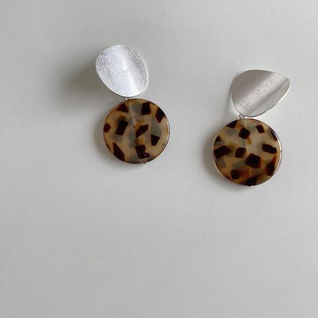 metal&leopard earrings
