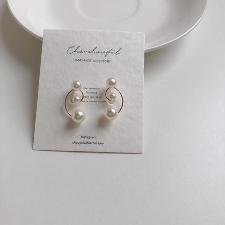 three range pearl earring