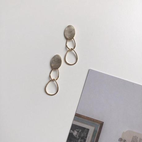 metal parts swing earring